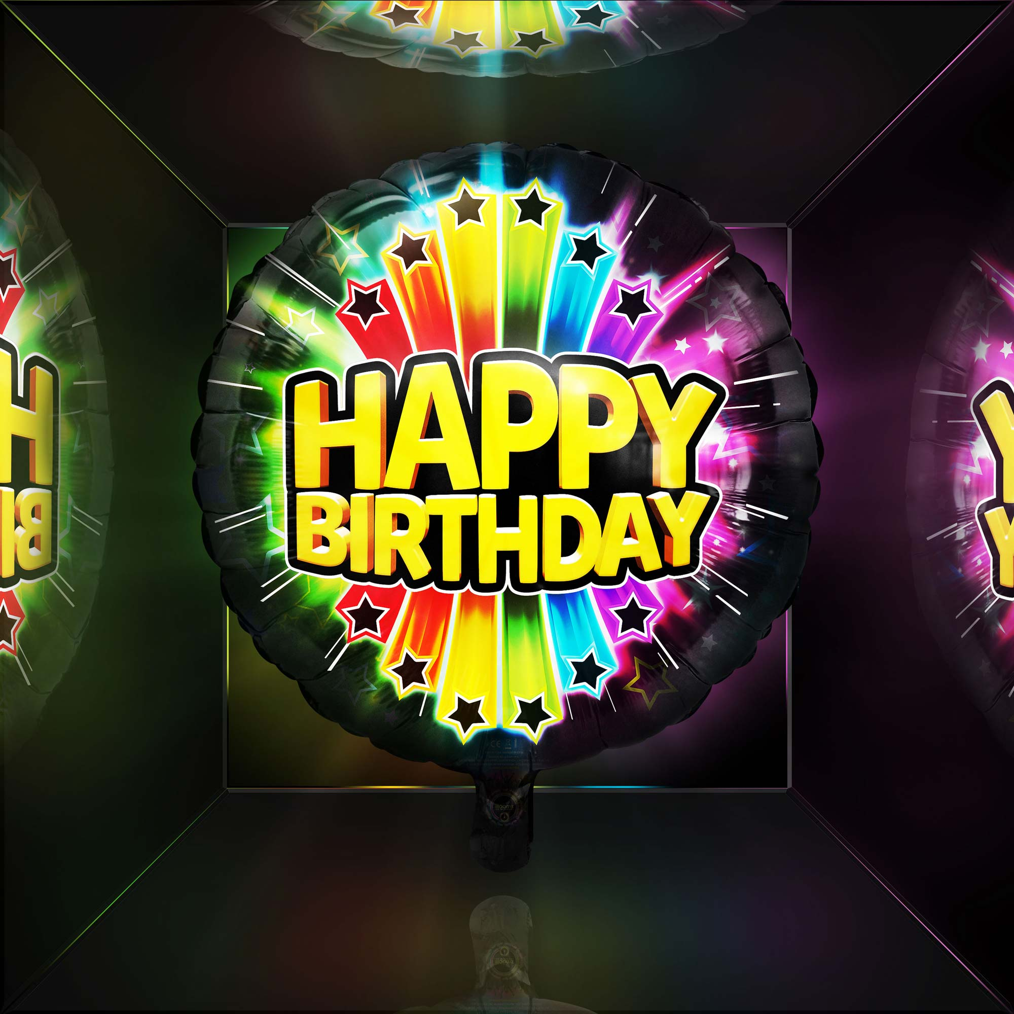 Happy Birthday Balloon at Night